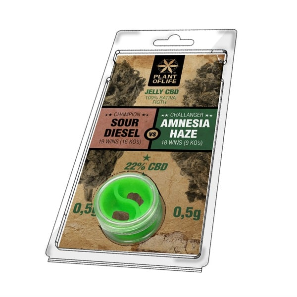 Sour Diesel VS Amnesia Haze (0.5g + 0.5g) 22% CBD