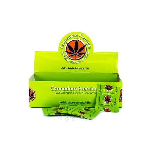 Cannadom Premium – Préservatif aromatisé au cannabis