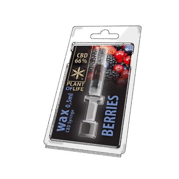 Wax de Berries 66% CBD (0.5g)