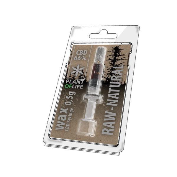 Wax de Raw Natural 66% CBD (0.5g)